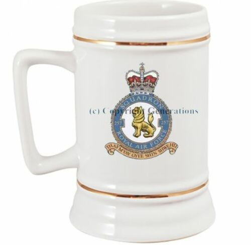ROYAL AIR FORCE 257 SQUADRON BEER STEIN