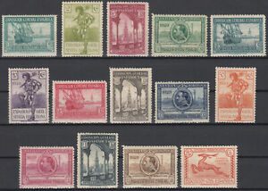 Serie-Pro-Expo-Seville-Barcelone-434-447-Annee-1929-Complet-MH
