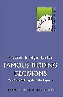 (Very Good)-Famous Bidding Decisions (MASTER BRIDGE) (Paperback)-Reese, Terence,