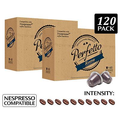 2 x    Perfetto Roma Nespresso Compatible Coffee Capsules 60pk