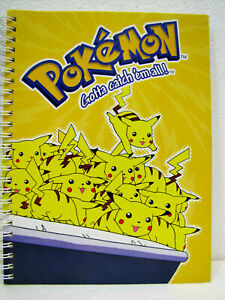 POKEMON-Quaderno-a-righe-di-5a-NINTENDO-2000-cm-22x17-pag-60-120