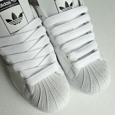 Quality 15mm Fat Shoe Lace White Black