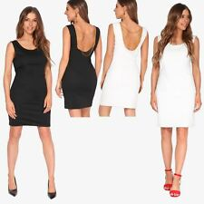 Ladies Fashion Bodycon Dress Sleeveless Backless Party Fitted Cocktail Pencil
