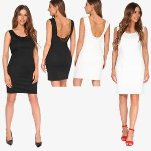 Ladies-Fashion-Bodycon-Dress-Sleeveless-Backless-Party-Fitted-Cocktail-Pencil
