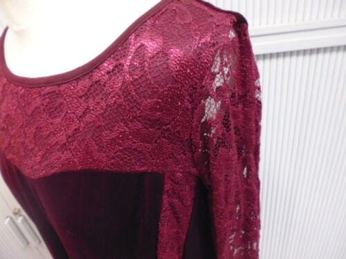44 46 50 52 54 Kleid Festkleid Abendkleid Samtkleid Freizeitkleid bordeaux GR