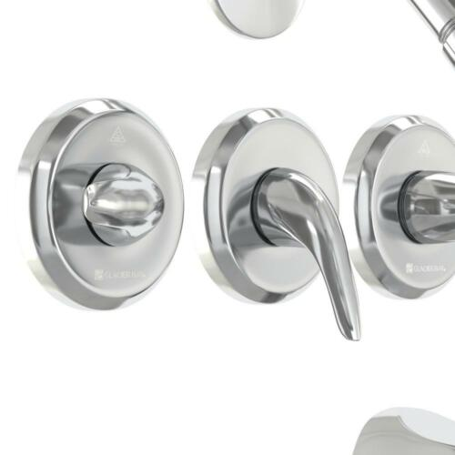 Glacier Bay Bath Tub Shower Faucet Valve Bathroom Repair 3 Handle 1 Spray Chrome