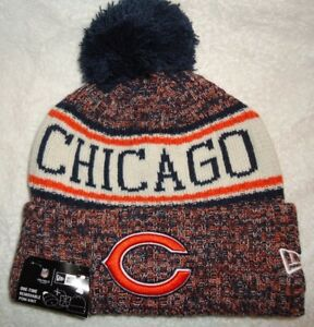 CHICAGO BEARS NFL AUTHENTIC NEW ERA 2018 ON FIELD SPORT KNIT HAT NEW ... ec8250e5b0ab