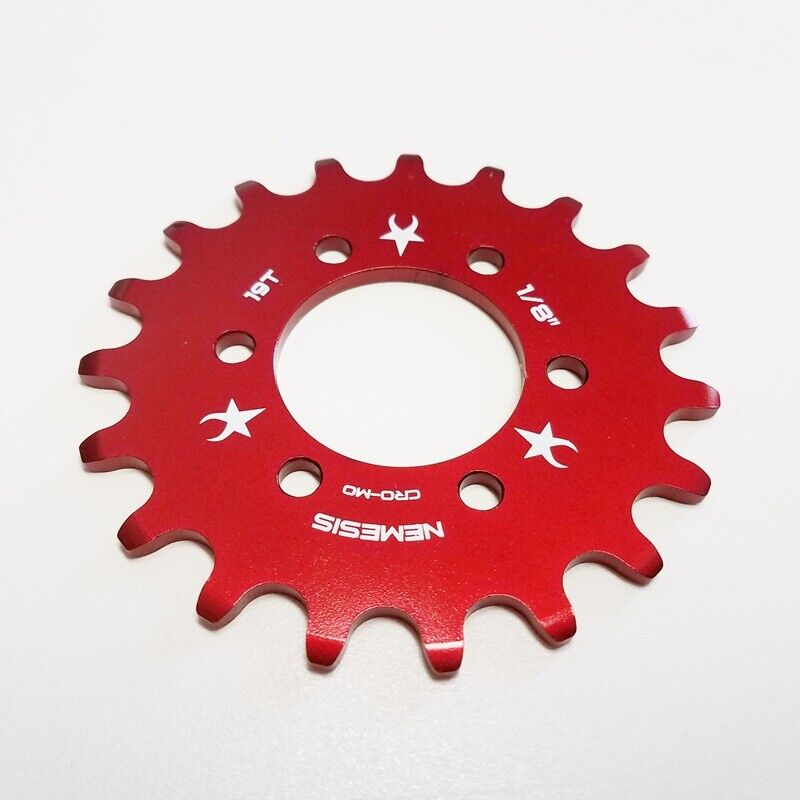 """RED FOR DISC HUB NEMESIS 16T FIXED GEAR COG 1//8/"""" FIXIE"""