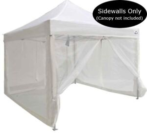 Details about 10x10 Pop Up Canopy Tent Mesh Sidewalls Screen Room Mosquito  Net Sidewalls ONLY