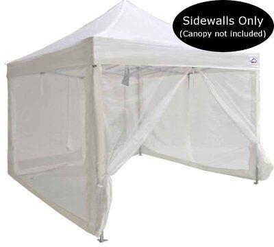 10x10 Pop Up Canopy Tent Mesh Sidewalls Screen Room