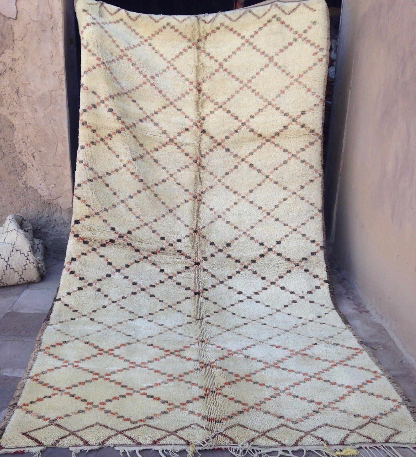 Magnífico antiguo Beni ouarain ourain Alfombra 381 X 200 Cm