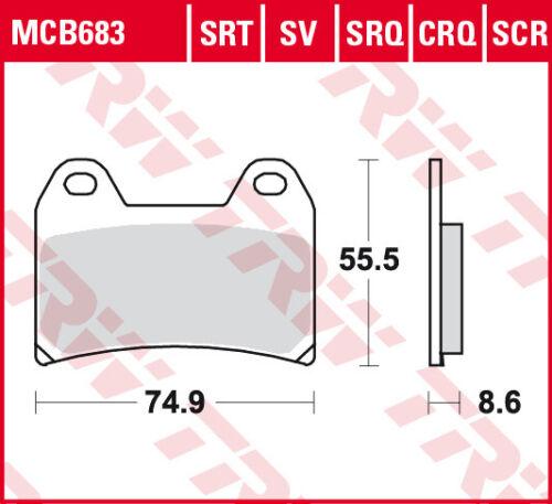 TRW RQ Racing Front Brake Pads MCB683CRQ Ducati 748 Strada Biposto 1999-2002