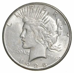 1-AU-1-1925-Peace-Silver-Dollars-Dripping-w-luster-Almost-Unc-90-Bulk-amp-Save