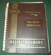Allis Chalmers Hd 11 Crawler Tractor Dozer Service Shop Repair Workshop Manual