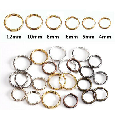 Silver Plated Double Loops Open Jump Rings 4mm Dia. 200 pcs