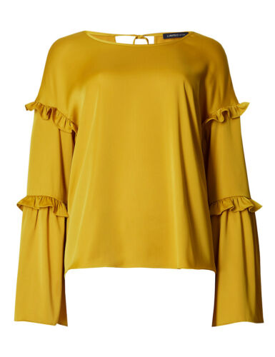 Edition Bnwt Ruffle Marks Sleeve amp; Limited Spencer Long Top Shell Satin pHHwtqFv