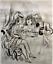 """miniature 1 - André DIGNIMONT- """"Ivresse"""" - Dessin à l'encre encadré - 1931"""