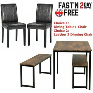 Retro Dining Tables And Chairs Bench Set Restaurant Home Furniture Modern 1 2pcs Ebay