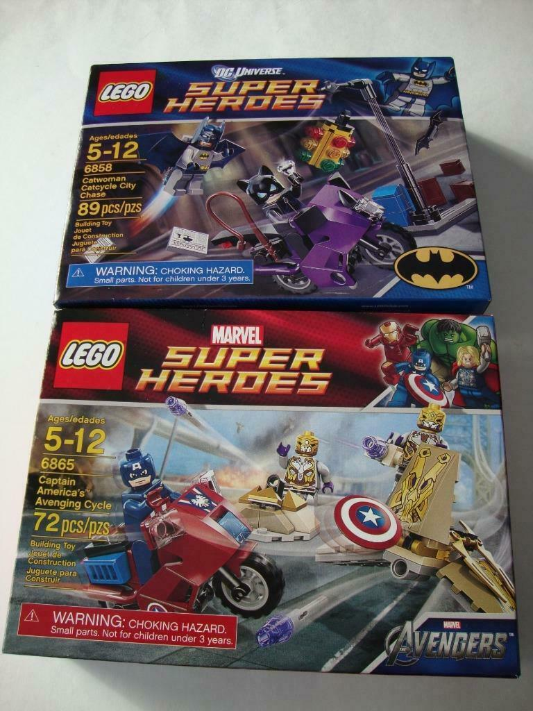 LEGO Super Heroes 6858 Catwoman Catcycle Catcycle Catcycle & 6865 Captain America - NEW & SEALED a1b07e