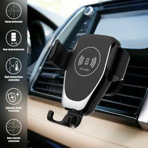 Qi inalámbrico Carga rapida coche Cargador de teléfono para Samsung S21 Apple 12