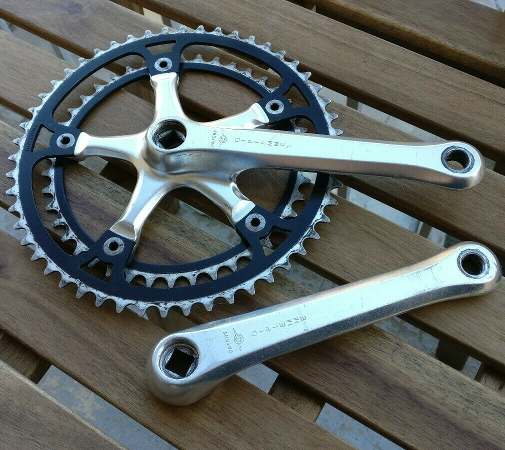 Gipiemme Cronosprint road vintage crankset, 52 42 drilled rings   EXC+++