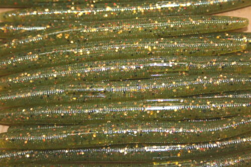 "5/"" Stick Senko Style Lighter Huisache 100 count bag bulk Bass Plastic Worms"