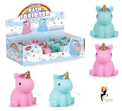 2 x UNICORN BATH SQUIRTER Squirt Pony Kids Baby Shower Water Play Favour Gift