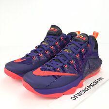 new style 32510 0d8be ... hot item 6 nike lebron xii 12 low mens size 11.5 toronto raptors purple  crimson 724557