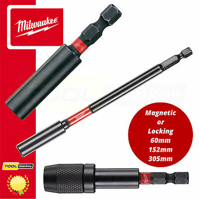 Milwaukee Professional Magnetic Bit Holder 60mm//73mm//152mm//305mm//Locking//Impact