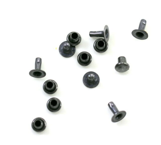 T359 Pkg of 10 TierraCast 4mm Compression Rivets Antiqued Copper Plated Brass