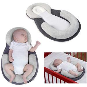 Infant-Baby-Pillow-Cushion-Prevent-Flat-Head-Sleep-Nest-Pod-Anti-Roll-SMART