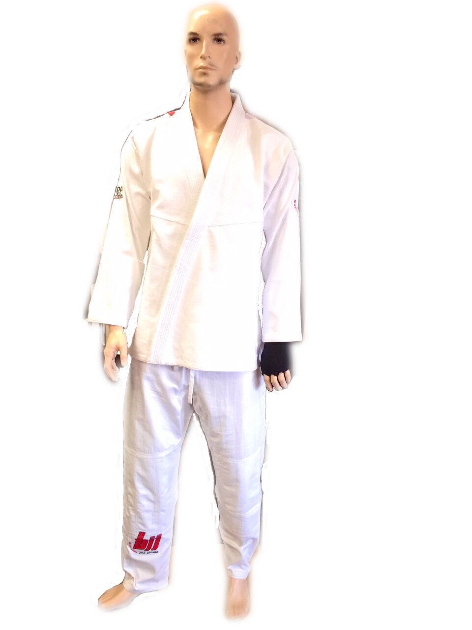 Woldorf usa BJJ jiu jitsu uniform gi student  in white color flags on shoulders  guaranteed