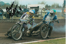 BYRON BEKKER HAND SIGNED SCUNTHORPE SCORPIONS SPEEDWAY 6X4 PHOTO 1.