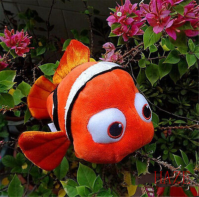 "New Finding Nemo Soft Plush Fish Doll Toy For Disney 9"" kid's gift free ship UK"