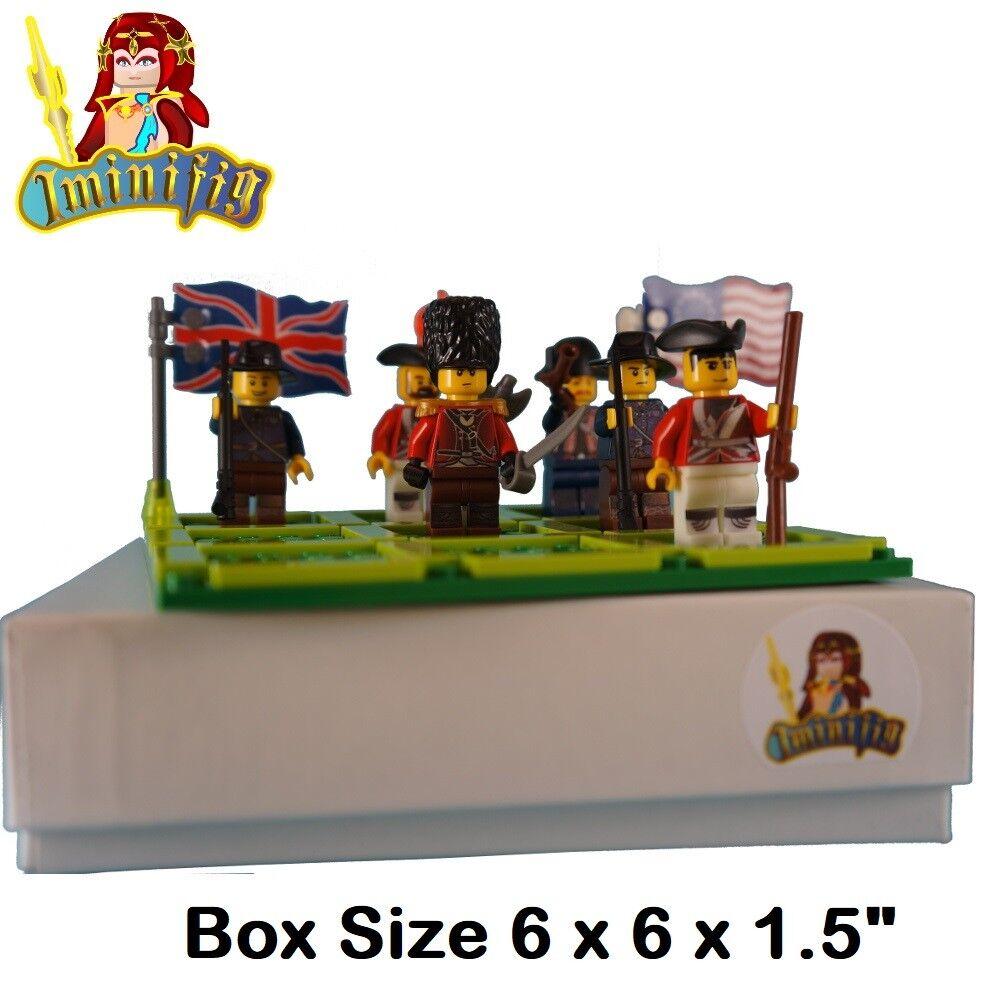 Custom LEGO minifigure Tic Tac Toe British vs Continental Soldiers W Flag 10 fig