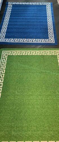 Serdim Rugs GREEN OR BLUE LOOP PILE 265 GSM 100/% POLYAMID   120 x 160cm SALE £15