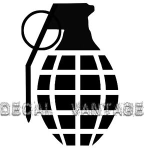 Hand-Grenade-Vinyl-Sticker-Decal-JDM-Drift-Race-Choose-Size-amp-Color