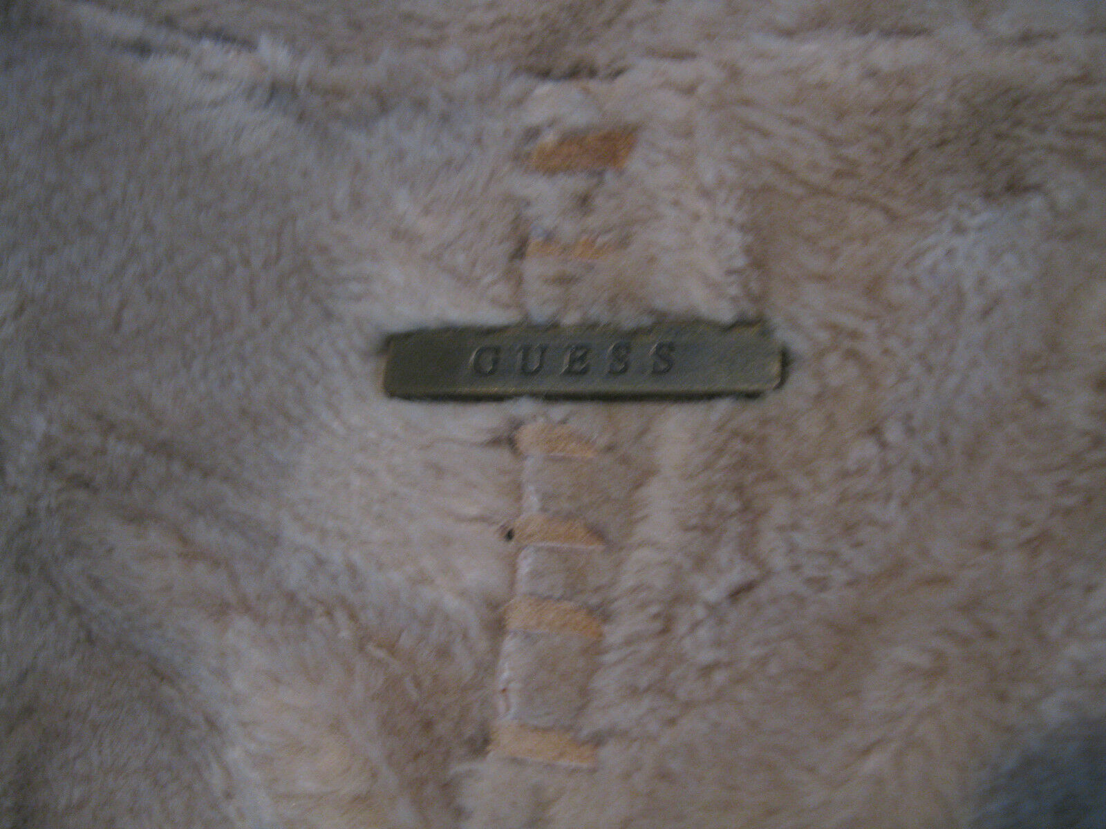 Modern Modern Modern Vintage GUESS Suede Leather Coat With Faux Fur Size M 056814