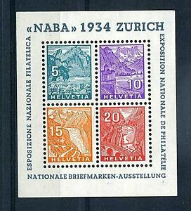 SUISSE-STAMP-TIMBRE-BLOC-FEUILLET-N-1-034-NABA-1934-034-NEUF-xx-TTB-VALEUR-850