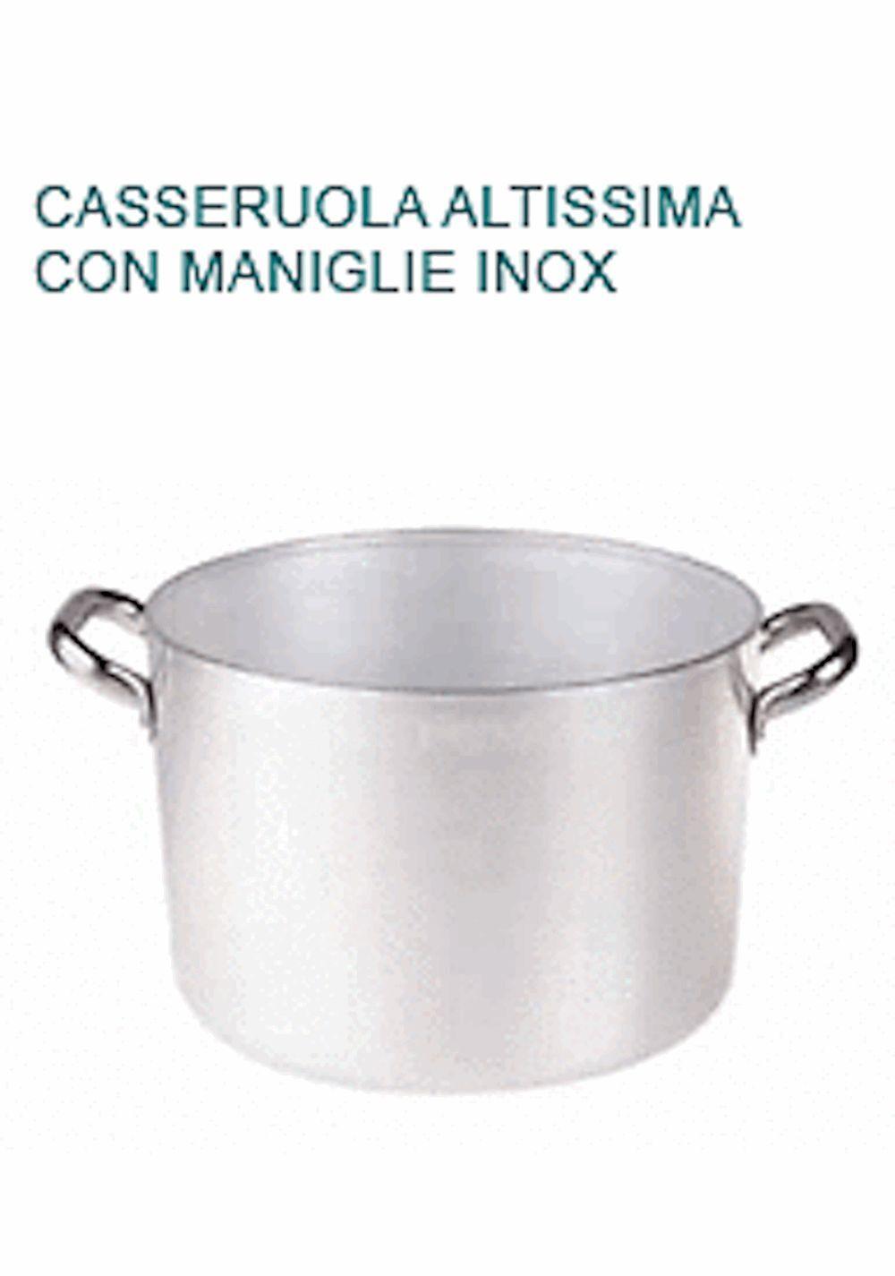 CASSERUOLA ALTISSIMA In Alluminio Diametro cm 40X26H Professionale Agnelli 3 mm