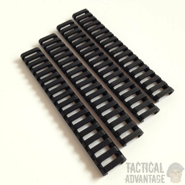 4 x AEG 20mm Rubber Rail Covers Handguard Ladder Airsoft RIS Magpul Style Cover