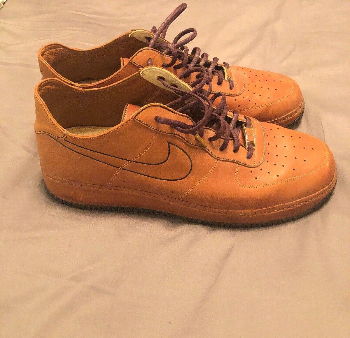Mens Nike Air Force 1 Supreme DS DeConstruct Hazelnut Leather Size 14