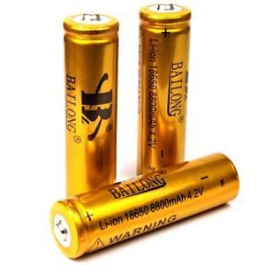 3-x-Bailong-gold-8800-mAh-4-2-V-Lithium-Ionen-Akku-Modell-18650