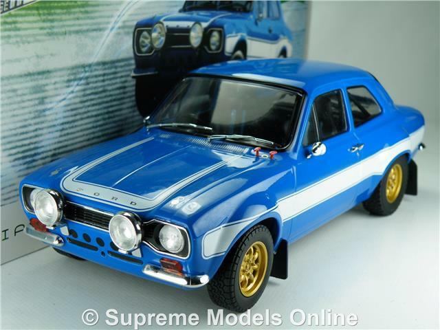 FORD ESCORT RS2000 MK1 Coche MODEL 1 18 Talla FAST & FURIOUS 6 verdeLIGHT azul T34Z