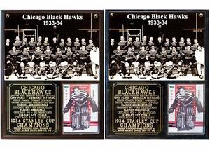 Image is loading Chicago-Blackhawks-1934-Stanley-Cup-Champions-Photo-Plaque 29d8ff298