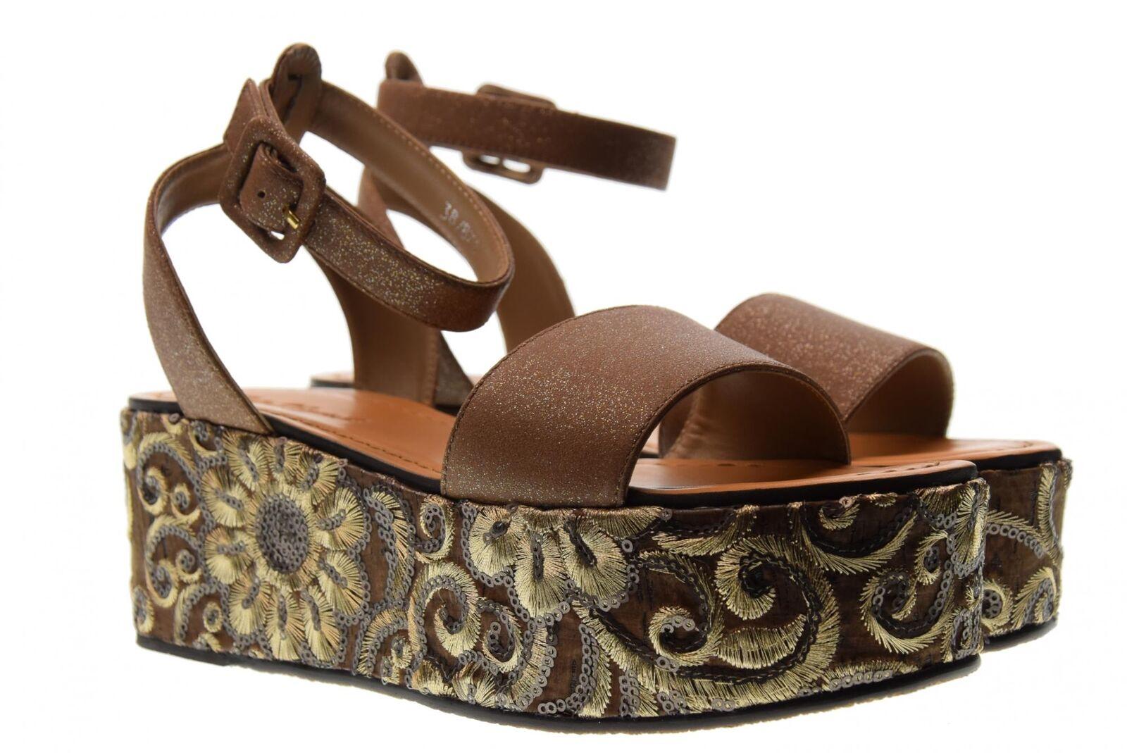 Cris Vergre' P18f chaussures femme sandales H0802X marron