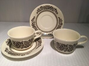 Details about 2 SETS~ Royal China USA SUSSEX CAVALIER Ironstone Coffee Tea  Cup & Saucer Floral