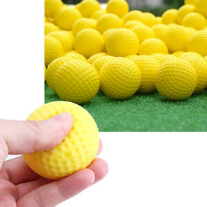 5pc-Indoor-Outdoor-Sporttraining-Praxis-Golf-elastische-PU-Schaumstoffbaelle-Gelb