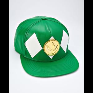 Mighty-Morphin-Power-Rangers-Green-Power-Ranger-Snapback-Hat-Cap-RARE-VHTF
