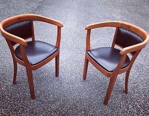 1-24-Stuhl-ART-DECO-Schreibtisch-Armlehn-Gropius-Bauhaus-LOFT-Cafe-Lounge-Leder